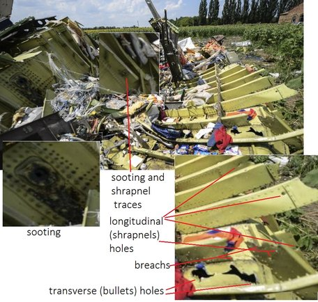 #MH17 Traces of cannon fire