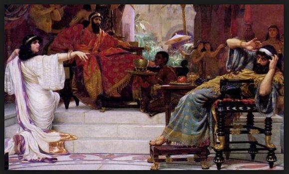 Gest demaskacji antysemity, nacjonalisty, antydemokraty (Estera przed Królem Brukseli)