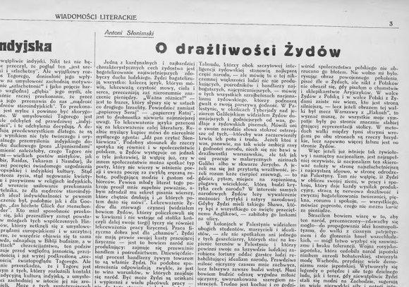Estera, uszka antysemity, główki islamofoba i Antoni Słonimski