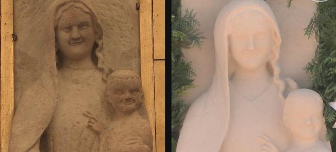 Średniowieczna figura Matki Bożej z drukarki 3D