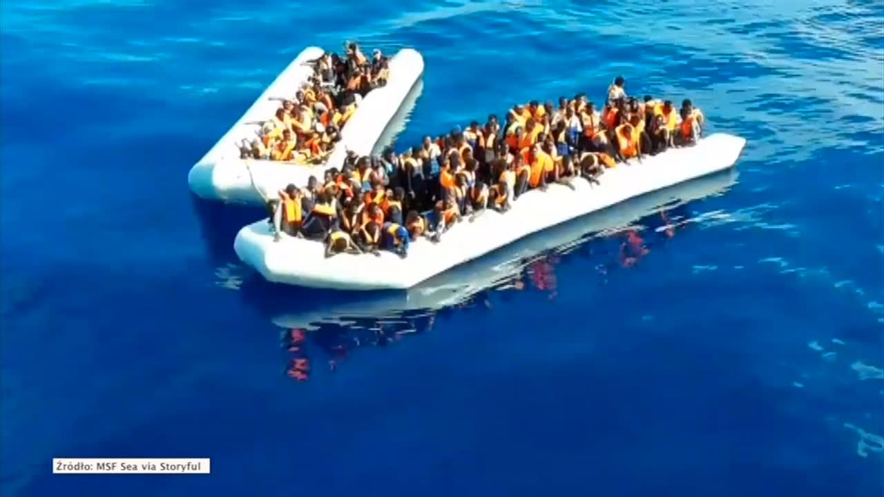 Na Morzu Śródziemnym uratowano kilkuset uchodźców