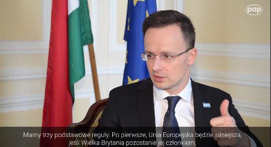 Szef MSZ Węgier o negocjacjach z Wlk.Brytanią